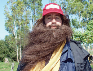 Steve (as Forrest) becomes the long-haired 'running Forrest'