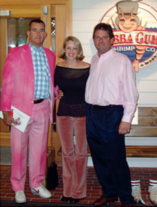 Attending Breast Cancer banquet with team Bubba Gump in Minneapolis, MN. Notice I dyed one of my suits 'pink' for the occasion.