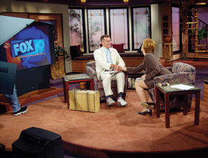 Forrest Gump in the TV studio