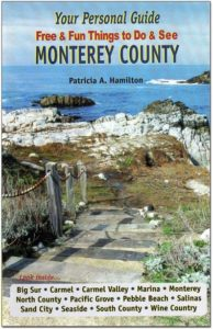 Monterey County Guide book with Steve Weber as Forrest Gump impersonator at Bubba Gump on weekends