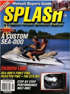 Splash magazine features trip to San Francisco Bay and Pier 39 and meeting Forrest Gump impersonator Steve Weber at Bubba Gump (May 1998)