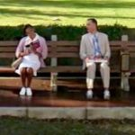 Forrest introduces himself to the woman on the bench at the beginning of the movie