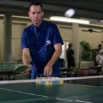 Forrest plays ping pong