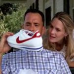 Jenny gives Forrest a pair of Nike Cortez running shoes for his birthday