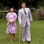 Forrest sees Lt. Dan 'walking' across the lawn to Forrest & Jenny's wedding