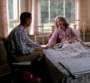 "Forrest Gump asks his dying Momma, ""What's my destiny?"""