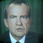 President Nixon resigns after being implicated in the Watergate coverup