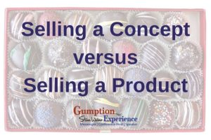 Selling a Concept vs Selling a Product
