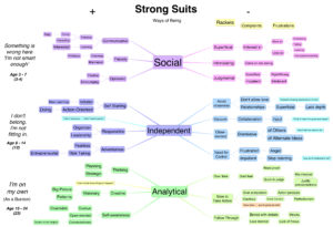 Mindmap of Steve Weber's 3 strong suits
