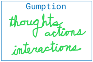Gumption – Thoughts, Actions, Interactions