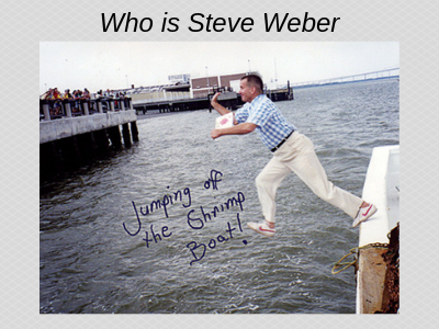 Steve Weber is an Encourager (About Steve Weber page)